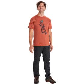 Marmot Pom Pom T-Shirt Kurzarm Herren picante heather